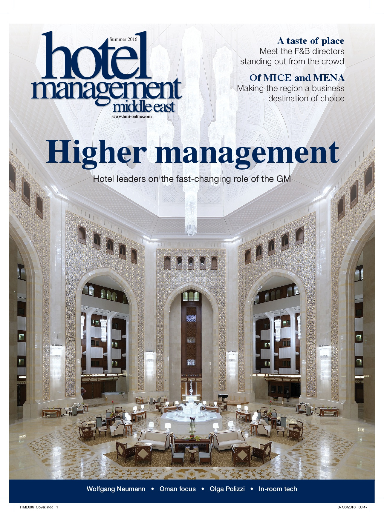 Hotel Management Middle East Summer 2016